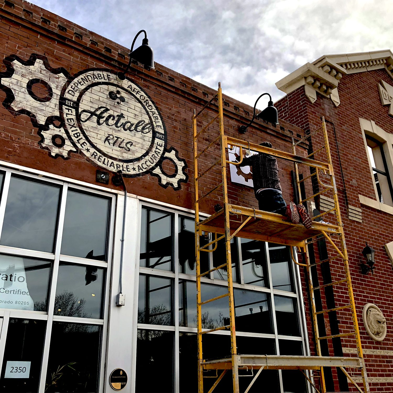 April | 25 | 2018 Hand-painted signage for our new building